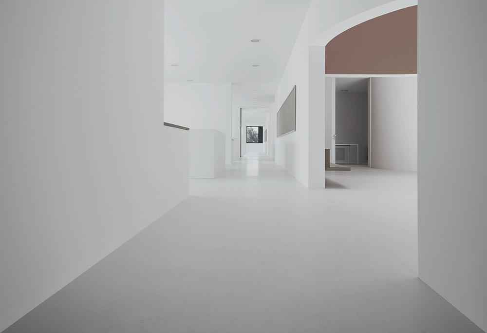 white concrete floors