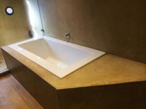 stucco wall & cement vanities